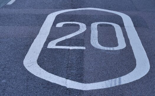 Photo of a 20 mph road marking
