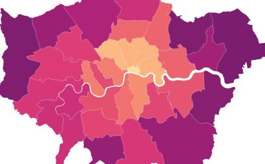 Healthy Streets Scorecard map