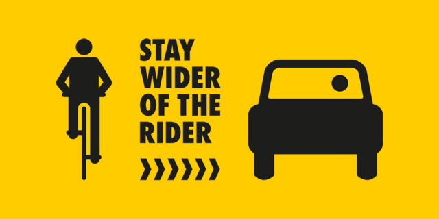 Stay Wider of the Rider PSA logo