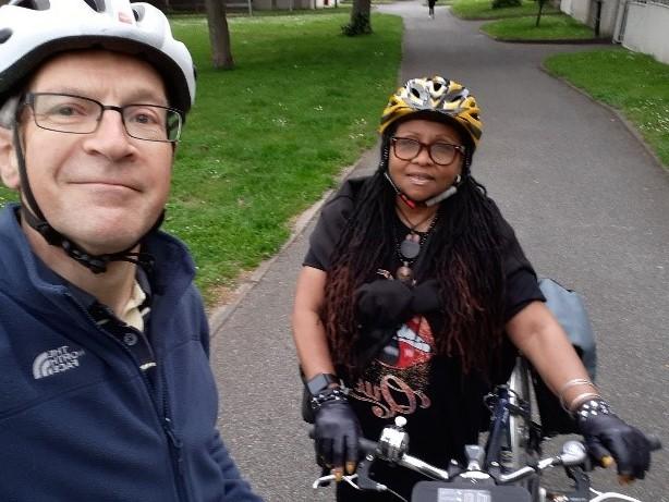 Inez and Nigel, Cycle Buddies